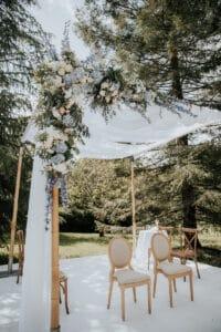 Wedding bordeaux décor mariage juif houppa-arche florale planner israel mcreationevents